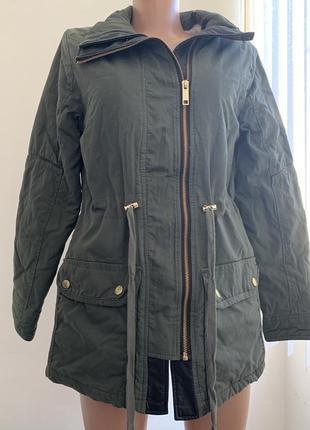 Красивая удлинённая демисезонная куртка парка new look цвета х...