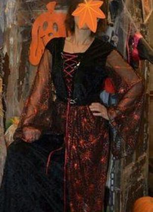 Карнавальный костюм ведьмочка на хэллоуин новaый год