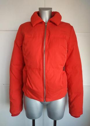 Стёганая куртка topshop красного цвета