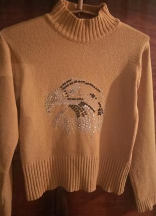 Тёплый свитер! горчичного цвета!