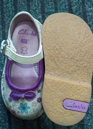Кожаные туфельки clarks