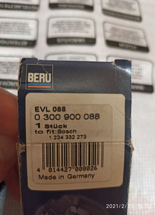 EVL088 Beru бегунок распределителя зажигания