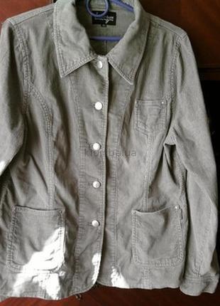 Вельветовый пиджак-куртка бренд-green house--12-14р распродажа