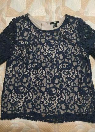 Блуза кружевная р.s