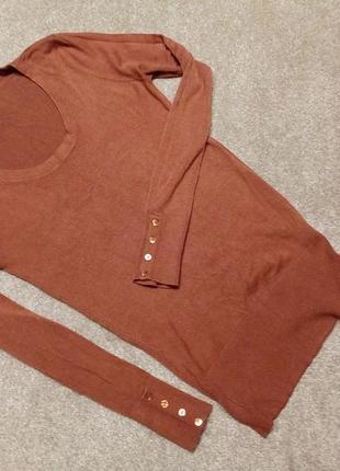 Красивый теракотовый .свитер...джемпер--бренд-chicoree- ---m