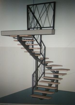 Проэкты лестниц на второй этаж