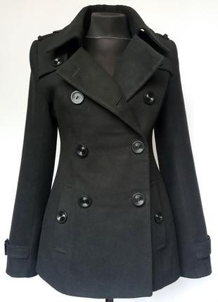Суперцена. стильное кашемировое пальто. новое, р. 42