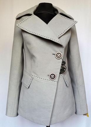 Суперцена. стильное кашемировое пальто. новое, р. 46