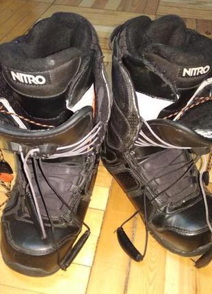 Ботинки для сноуборда сноубордические nitro crown