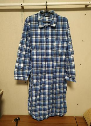 Фланелевая ночная рубашка 52 размер