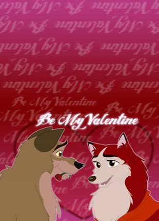 """Листівки до дня святого Валентина """"Балто"""""""