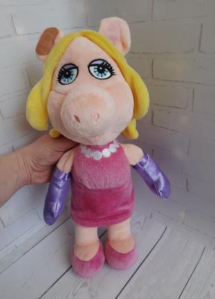 Маппет шоу мисс пигги свинка мягкая игрушка disney store