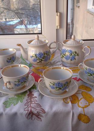 Новый фарфоровый чайный сервиз городницкий фарфоровый завод