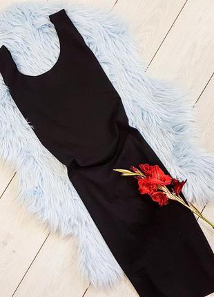 Платье-миди черное