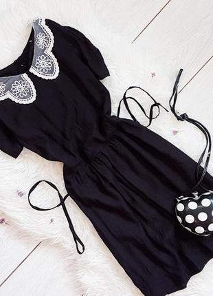 Черное платье из воротничком от new look