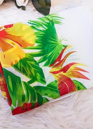 Акція 1+1=3    широкий шарф - палантин в цветочный принт