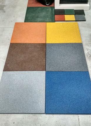 Резиновая плитка, для спортзалов, фитнес центров от производителя
