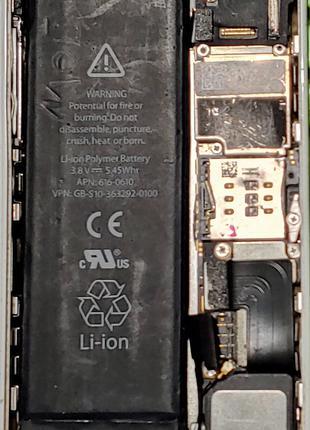 Оригинальный Аккумулятор 616-0610 для Apple iPhone 5 5c 5s