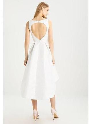 Вечернее выпускное свадебное платье chi chi london asos