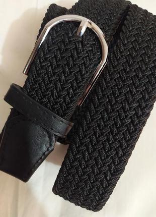 Удобный эластичный пояс резинка плетеный ремень