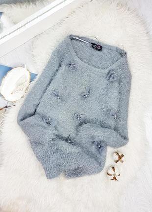 Акция 1+1=3 свитер-травка с бантиками от stylamoi