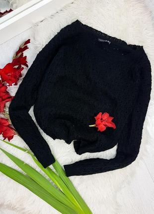 Акция 1+1=3 черный свитер-паутинка от atmosphere