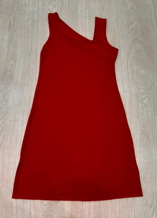 Красный сарафан платье