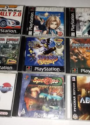 Диски одним лотом Игра PS1 Sony Playstation 1 ps one диск game 2