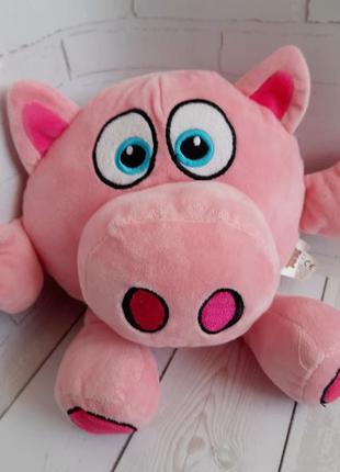 Мягкая игрушка свинка поросенок crazy pets 28 см
