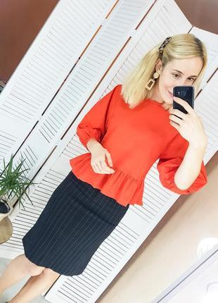 Блуза - рубашка с широкими рукавами