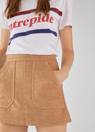Теплая юбка с шерстью