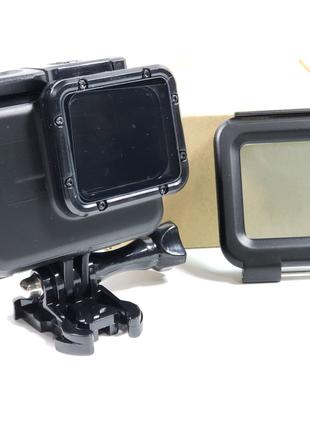 Аквабокс GoPro 7, 6, 5,HERO 2018 Подводный бокс Черный