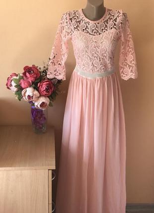 Нарядное платье платье в пол