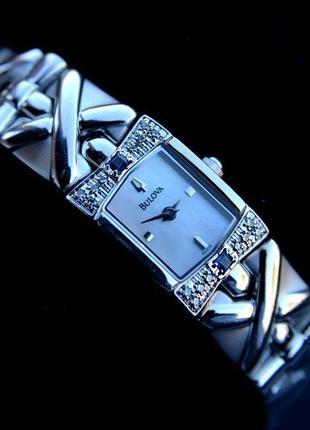 Бриллианты! женские часы браслет с бриллиантами и сапфирами bu...
