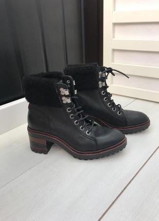 Ботинки чёрные утепленные