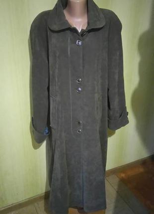 Женское демисезонное длинное пальто , большой размер 54/56