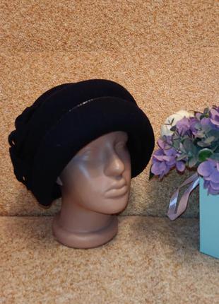 Красивая женская фетровая шапка, котелок, зимняя шапка, шляпа