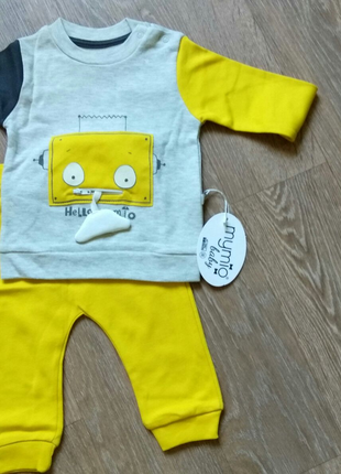 Mymio baby спортивный костюм свитшот + штаны 6 мес