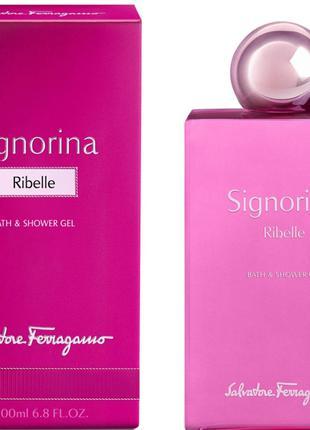 Salvatore ferragamo signorina ribelle гель для душа женский