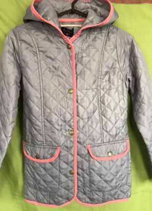 Куртка  стеганая ,пальто демисезонное для девочки 152-164