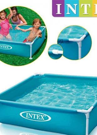 Каркасный детский бассейн Intex 57173, 122 х 122 х 30 см, голубой