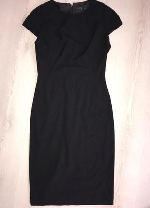 Платье футляр классика черное платье миди zara xs-s