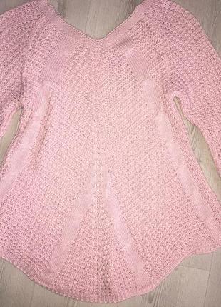 Туника свитер вязаный женский 44-46( м-л)
