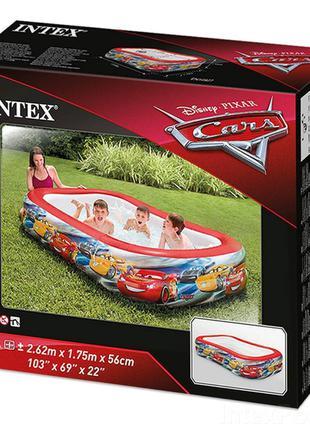 Дитячий надувний басейн Intex 57478 Тачки, 262 х 175 х 56 см