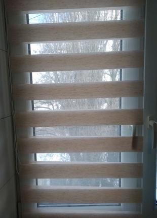 Рулонные шторы день-ночь.