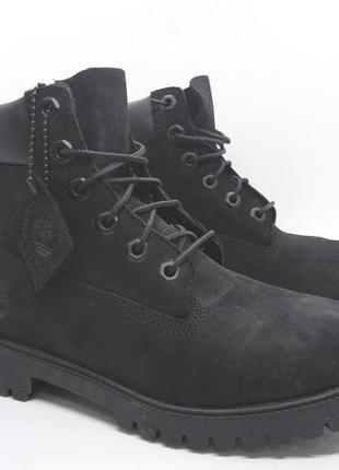 Кожаные водонепроницаемые черные ботинки timberland с primalof...