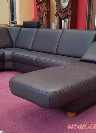 Кожаный угловой диван из Германии