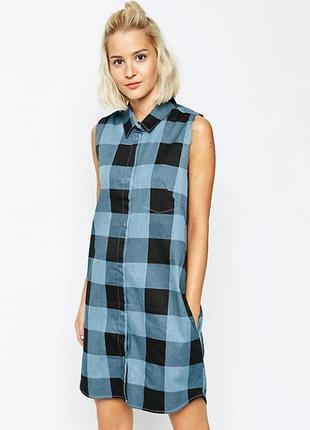"""Платье - рубашка с боковыми карманами """"cheap monday"""""""