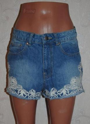 """Шорты джинсовые с вышивкой """"denim co"""""""