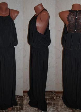 """Платье из плотного шифона с кружевом """"h&m"""""""